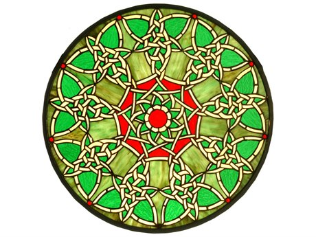 Meyda Tiffany Knotwork Trance Medallion Stained Glass Window