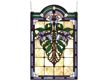 Meyda Tiffany Nouveau Lily Stained Glass Window MY67136