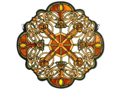 Meyda Tiffany Galway Medallion Stained Glass Window MY71235