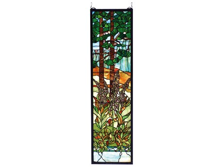 Meyda Tiffany Foxgloves Stained Glass Window