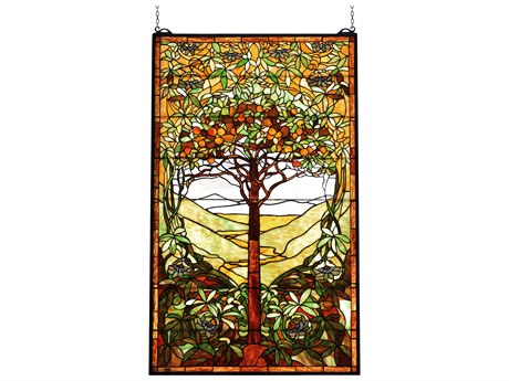 Meyda Tiffany Tree of Life Stained Glass Window MY74065