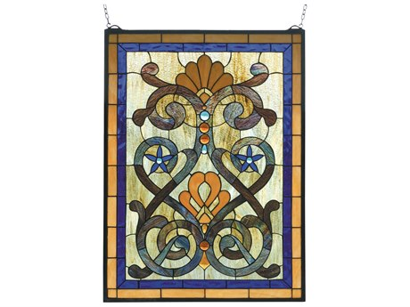 Meyda Tiffany Mandolin Stained Glass Window