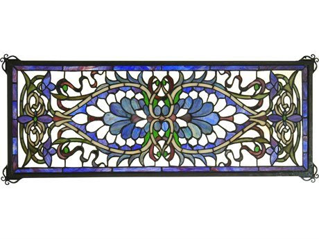 Meyda Tiffany Antoinette Transom Stained Glass Window MY78104