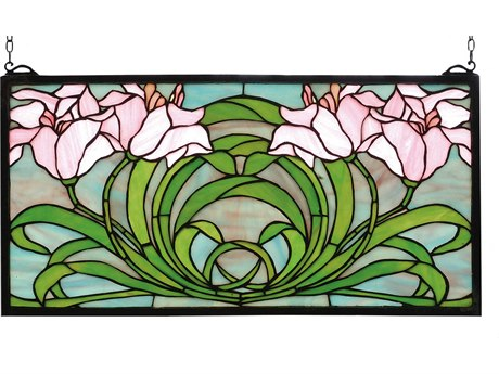 Meyda Tiffany Calla Lily Stained Glass Window MY79950