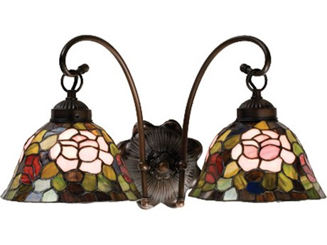 Meyda Tiffany Rosebush Two-Light Wall Sconce MY18709