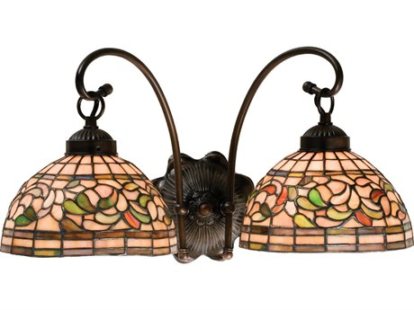 Meyda Tiffany Turning Leaf Two-Light Wall Sconce MY18717