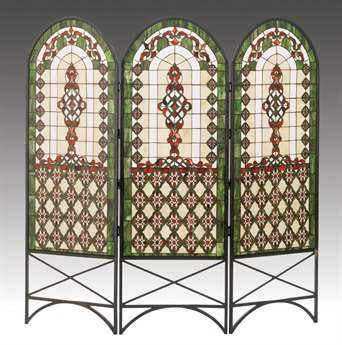 Meyda Tiffany Quatrefoil Classical Room Divider MY48809