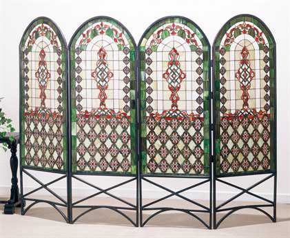 Meyda Tiffany Quatrefoil Classical Room Divider MY48808