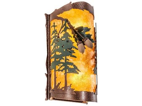 Meyda Oak Leaf & Acorn Copper Vein 2-light Rustic Lodge Vanity Light MY219633
