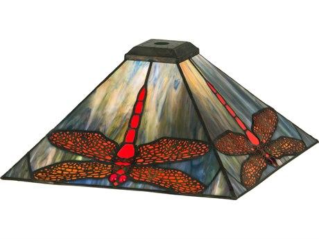 Meyda Tiffany Prairie Dragonfly Flame Orange 18'' Wide Shade MY12203