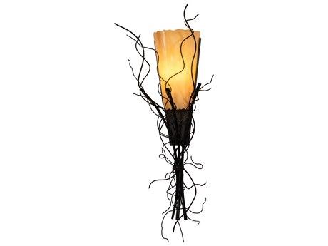 Meyda Rama Black / Amber 1-light Vanity Light MY145676