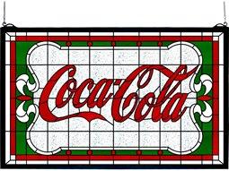 Tiffany Coca-Cola Nouveau Stained Glass Window