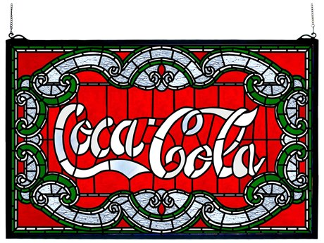 Meyda Tiffany Coca-Cola Victorian Stained Glass Window