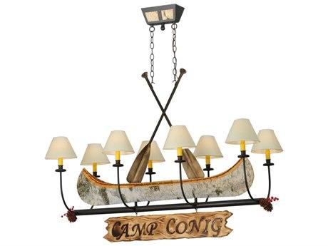 Meyda Tiffany Personalized Canoe Eight-Light Chandelier
