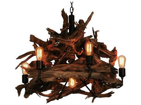 Meyda Tiffany Driftwood Seven-Light 30 Wide Chandelier MY144371