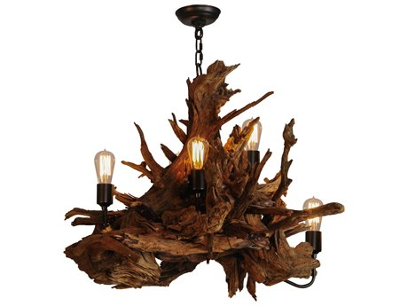 Meyda Tiffany Driftwood Five-Light 30'' Wide Chandelier