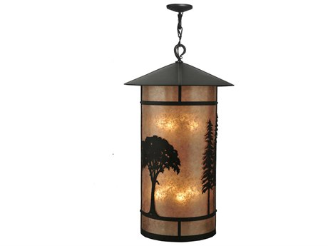 Meyda Tiffany Forest Eight-Light Outdoor Hanging Light