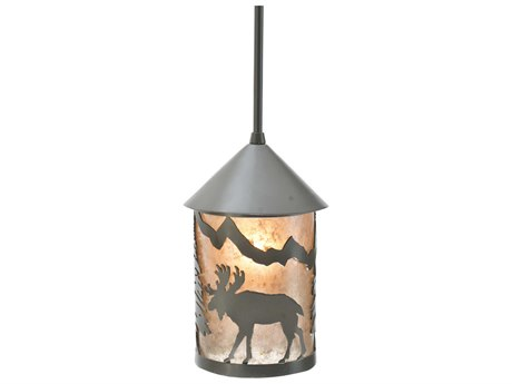 Meyda Tiffany Lone Moose Outdoor Hanging Light