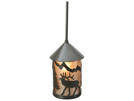 Meyda Tiffany Lone Elk Outdoor Hanging Light