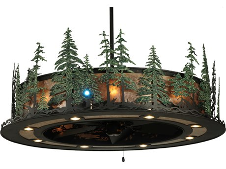 Meyda Tiffany Tall Pines with LED 17-Light Spotlight Chandel-Air
