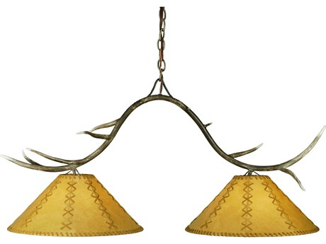 Meyda Tiffany Branches Faux Leather Two-Light Island Light MY112677