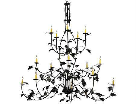 Meyda Tiffany Oak Leaf 3 Tier 15-Light 72'' Wide Chandelier MY134147