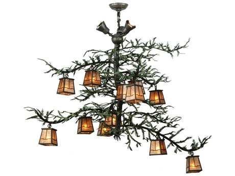 Meyda Tiffany Pine Branch Valley View 15-Light 48 Wide Grand Chandelier MY138383