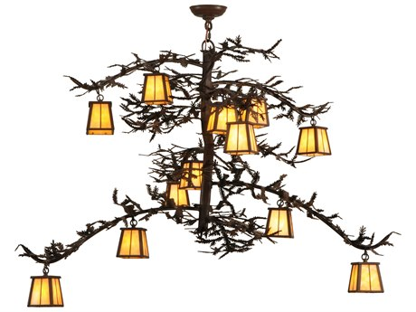 Meyda Tiffany Pine Branch Valley View 12-Light Grand Chandelier MY147539