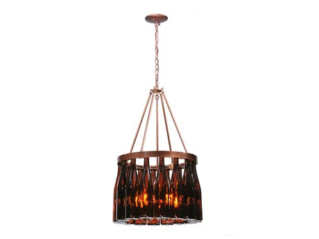 Meyda Tiffany Tuscan Vineyard Estate 16 Wine Bottle Five-Light 19 Wide Mini-Chandelier