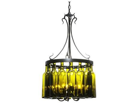 Meyda Tiffany Tuscan Vineyard Villa 16 Wine Bottle Five-Light 19 Wide Mini-Chandelier MY114514