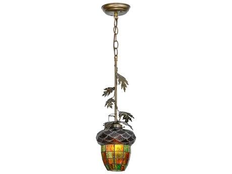 Meyda Tiffany Greenbriar Oak Mini-Pendant Light MY121872