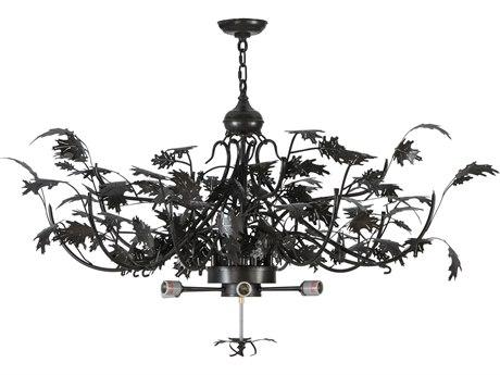Meyda Tiffany Greenbriar Oak Timeless Bronze Inverted Hanger