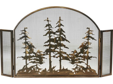 Meyda Tiffany Tall Pines Arched Fireplace Screen