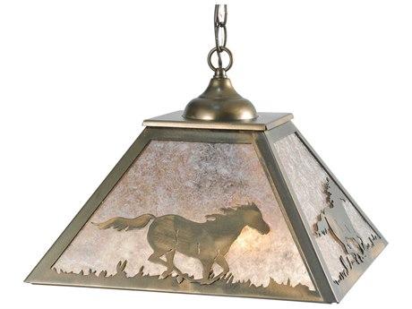 Meyda Tiffany Wild Horses Two-Light Pendant Light MY109563