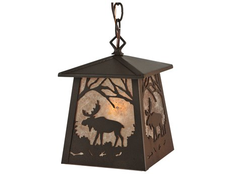 Meyda Tiffany Moose At Dawn Hanging Outdoor Light MY133124