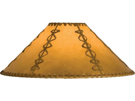 Meyda Tiffany Faux Leather Tan Hexagon Shade