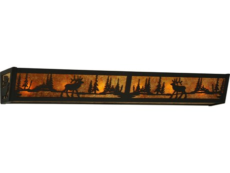 Meyda Tiffany Elk At Lake Six-Light Vanity Light MY134636