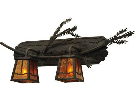 Meyda Tiffany Pine Branch Valley View Two-Light Vanity Light MY136511