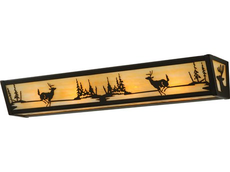 Meyda Tiffany Deer At Lake Four-Light Vanity Light MY139230