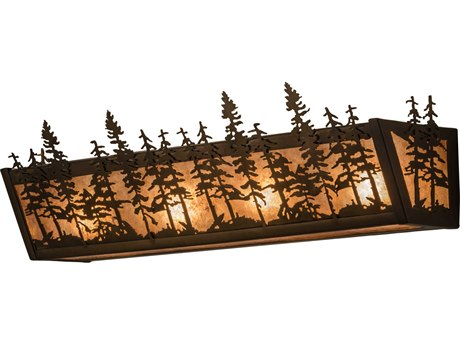 Meyda Tiffany Tall Pines Four-Light Vanity Light MY14200