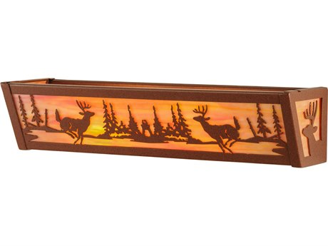 Meyda Tiffany Deer At Lake Two-Light Vanity Light MY146914
