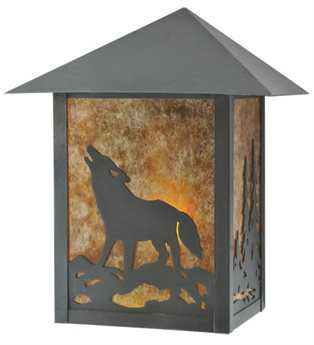 Meyda Tiffany Seneca Northwood's Wolf On The Loose Outdoor Wall Light