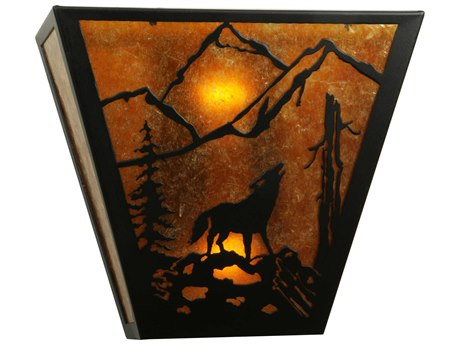 Meyda Tiffany Lone Wolf Two-Light Outdoor Wall Light