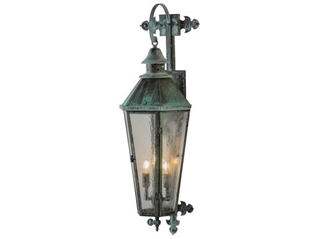 Meyda Tiffany Millesime Lantern Three-Light Outdoor Wall Light MY146840