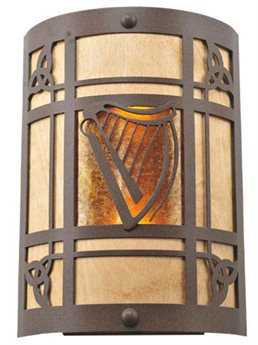 Meyda Tiffany Celtic Harp Two-Light Wall Sconce MY108827