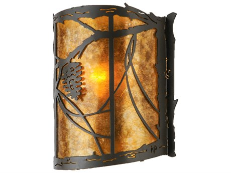 Meyda Tiffany Whispering Pines Wall Sconce MY114446