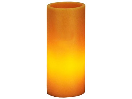 Meyda Tiffany Poly Resin Amber Flat Top Candle Holder