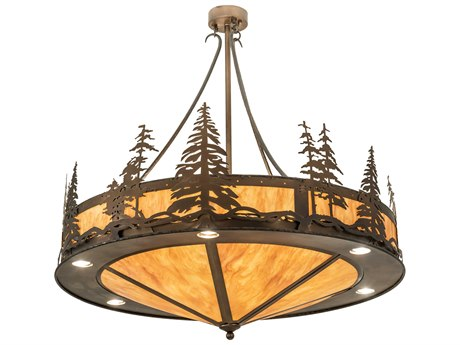 Meyda Tall Pines Antique Copper 18-light 40'' Wide Pendant