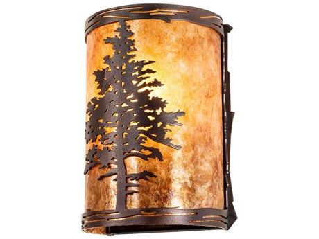 Meyda Tamarack Mahogany Bronze 1-light Rustic Lodge Vanity Light MY219235