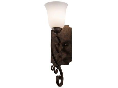 Meyda Thierry Rust / Antique 1-light Glass Vanity Light MY218111
